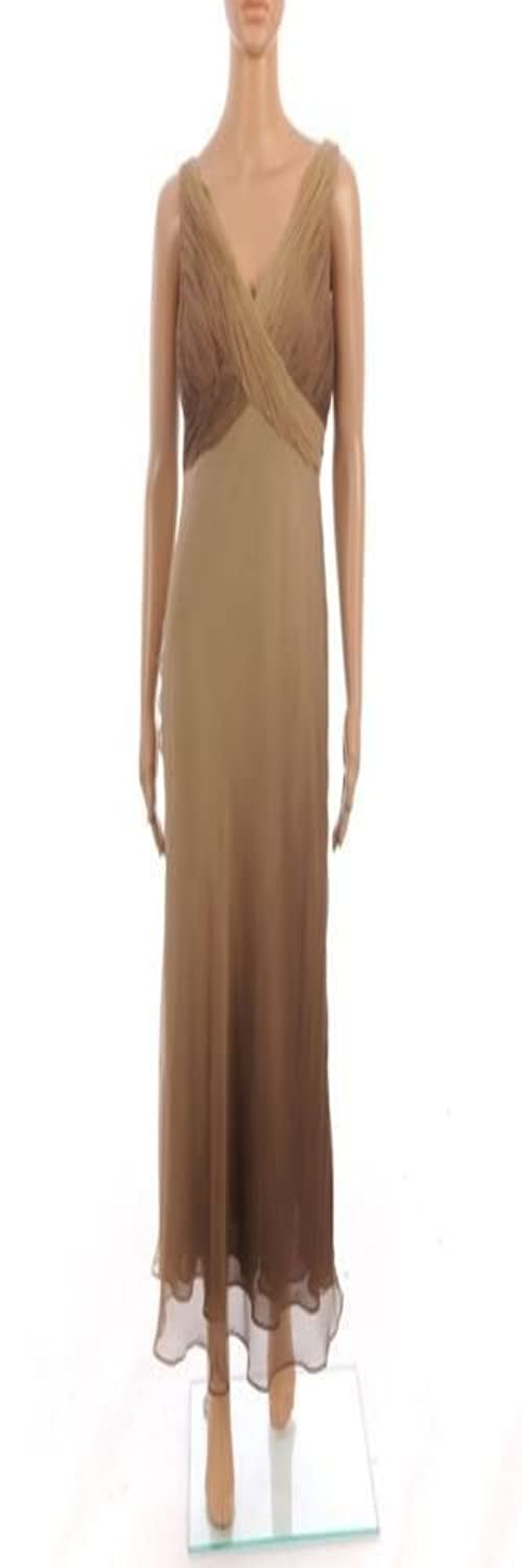 SAND Dress Brown Full Length Silk Sleeveless Size 36 / UK 10 NW 38