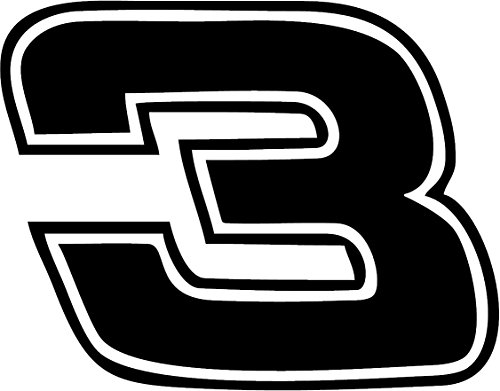 All About Families Dale Earnhardt #3 ~ Reflective Black ~ Decal ~ /CAR/Truck/RV/Boat with Alcohol PAD~ Size 7.5 X 5.87 ()