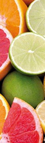 1art1 73653 Kochkunst - Zitrusfrüchte, 1-Teilig Fototapete Poster-Tapete 250 x 79 cm