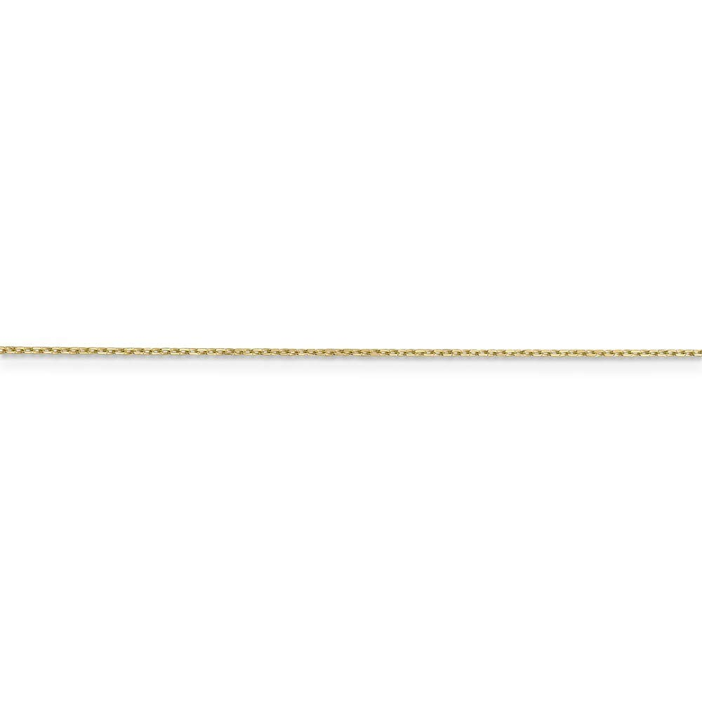 10k Sparkle-Cut Cable Chain Necklace in Yellow Gold White Gold Choice of Lengths 14 16 18 20 24 and Variety of mm Options