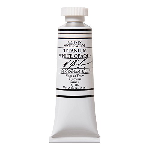 M. Graham 1/2-Ounce Tube Watercolor Paint, Titanium White Opaque (Opaque Watercolor)