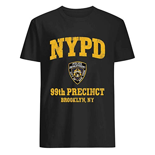 USA 80s TEE 99th Precinct Inspired Shirt Black