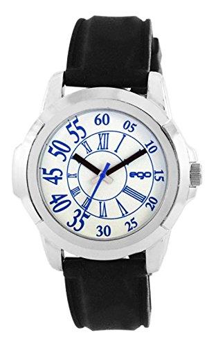 Maxima Ego Analog White Dial Men's Watch - (E-01122PAGC)