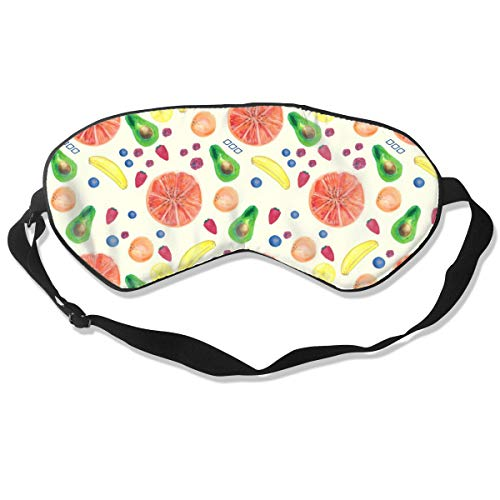 Oh-HiH Sleep Eye Mask/Blindfold Fruit Pattern Soft Eyeshade with Adjustable Strap for Night Sleeping,Travel,Naps (Veggie Easter Tray)