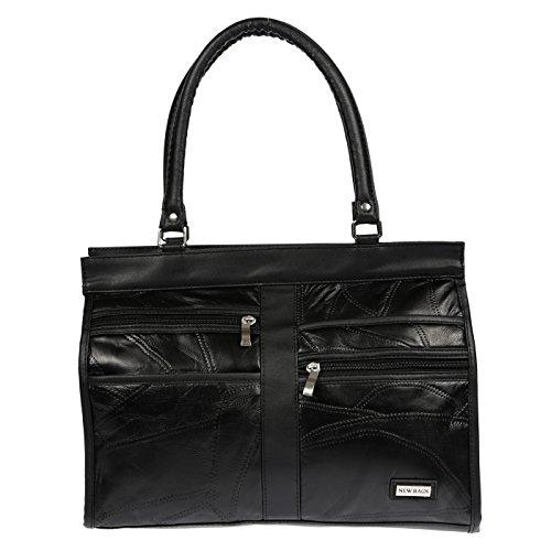 LLUPP - Bolso al hombro para mujer Negro negro 35x27x9 cm