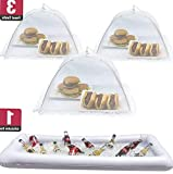 Mikash Inflatable Serving Bar Food Umbrella Mesh Cover Screen Tent Set Food Beverage