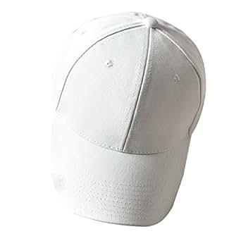 Sombrero Mujer Verano Color sólido Gorras Marea Coreana Casual Salvaje Sombrero de béisbol Sombrero Blanco Gorras