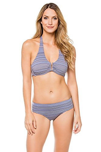 Heidi Klein Women's Cote Sauvage Halter Top (D-G Cup) Nautical S by Heidi Klein