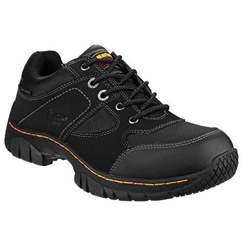 Dr Martens mens Dr Martens Mens Gunaldo Nubuck Work Safety Shoes Black Black Nubuck UK Size 12 (EU 47, US 13)