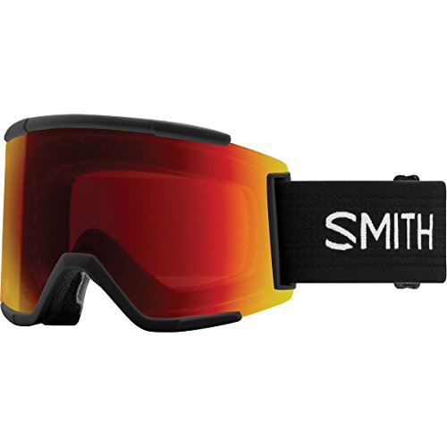 Smith Optics Adult Squad XL Snow Goggles Black Frame/ChromaPop Sun Red Mirror/ChromaPop Storm Rose - Outlet Sun And Ski