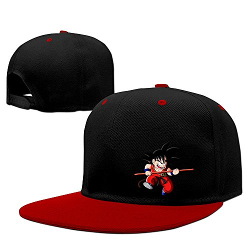 Red Hepburn Son Goku Japanese Dragon Ball Cool Hat Hip-hop Hat (Pharoah Hat)