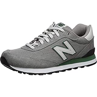 New Balance Men's 515 V1 Sneaker, Marblehead/Team Forest Green, 18 4E US