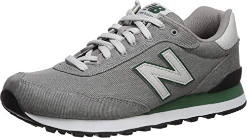 New Balance Men's 515 V1 Sneaker, Marblehead/Team Forest Green, 17 D US