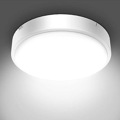 Olafus 32W Lámpara de Techo Moderna de Vidrio Metal Blanco ...