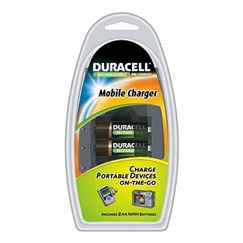 Amazon.com: Duracell Mobile Charger con 2 Pre Cargado pilas ...