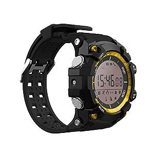 Burberrya Reloj Inteligente con Bluetooth, Monitor de Temperatura y Monitor de Salud UV teléfono Android iPhone,Gold