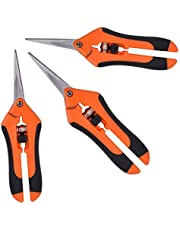GROWNEER 3 Packs Pruning Shear Gardening Hand Pruning Snips with Straight Stainless Steel Precision Blades