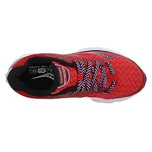 Saucony Women's Breakthru 2 Running Shoe, Pure/Black/Pan, 9 M US