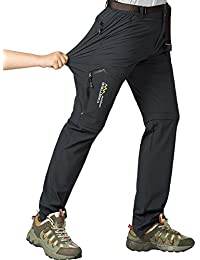 Women's Outdoor Quick Dry Convertible Hiking Stretch Cargo Pants #5818