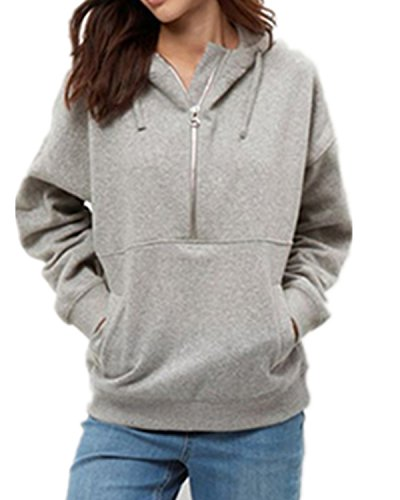 ZANZEA Fashion Loose Pullover Womens Cotton Hoodies - 4