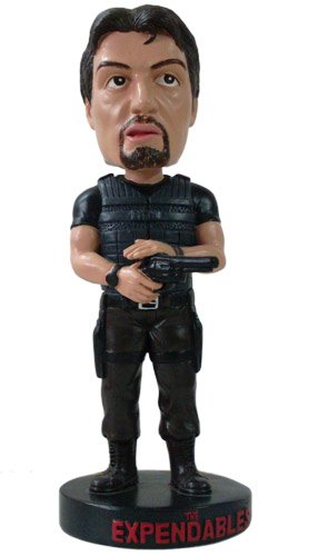 Hollywood Collectibles Group HCG The Expendables Sylvester Stallone Bobble Head Knocker