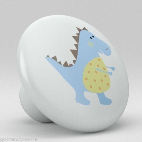 Cute Dino Baby Dinosaur Rex Nursery Ceramic Knobs Pull Door Closet Cabinet 1873 by gotrendyhome