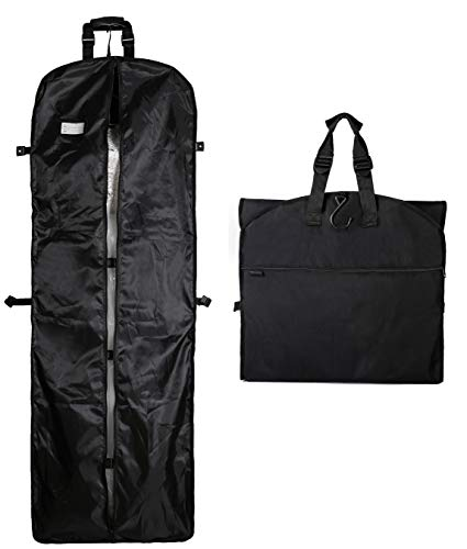 "Magictodoor 60"" Garment Bag Tri-Fold Gown Length w/Hanging Hook Large Pocket Destination Bag from Magictodoor"
