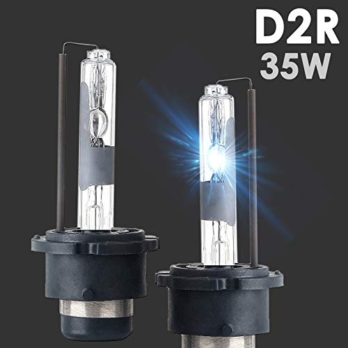 SOCAL-LED 2X D2R HID Bulbs 35W AC Factory Xenon HID Headlight Direct Replacement 8000K Light Blue ()
