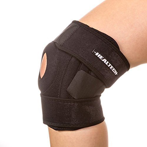 Knee Brace Support - Knee Wrap Compression Sleeve with Adjustable Strap - Knee Stabilizer offering Superior Protection - Ideal for runners, helps with arthritis, meniscus tear pain, stabilizer/immobilizer for the patella and more primary