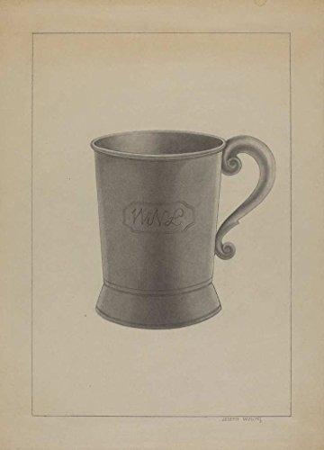 Artist: Joseph Wolins | Design: Britannia Mug | Date: c. 1936 | Vintage Fine Art - Britannia Wall Medium