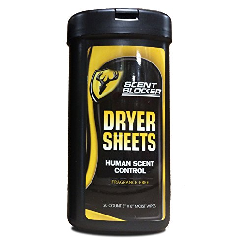 ScentBlocker Moist Dryer Sheets with Human Scent Control, 20-Count Top Price