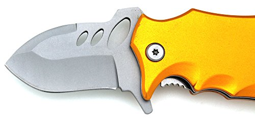 Snake-Eye-Fantasy-Action-Assisted-Opening-Folding-Pocket-Knife-3-YELLOW-Closed-Everyday-Carry-Outdoors-Self-Defense