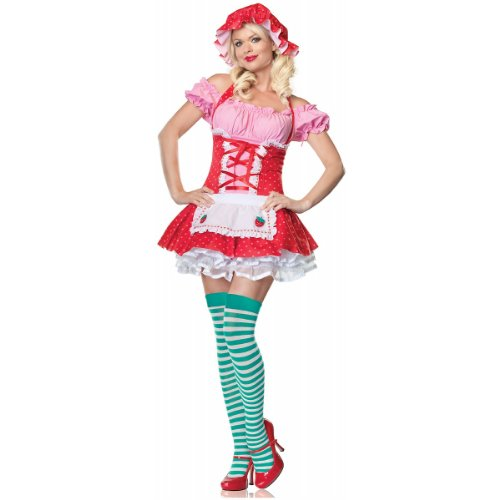 Country Girl Adult Costume - (Strawberry Shortcake Costume Shoes)