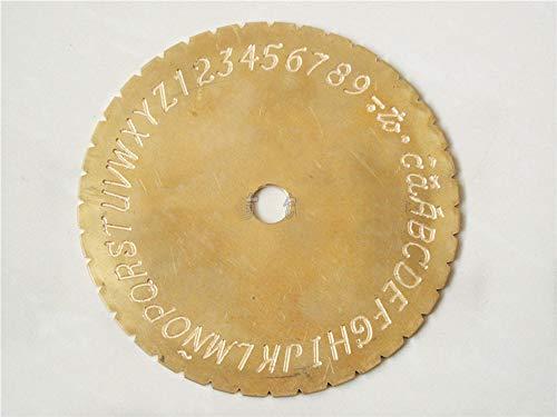 (GOOG New Doube Sides/Dial Font Disc Modern Block for Inside Ring Engraving Machine)
