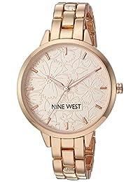 Nine West - Reloj de pulsera para mujer, Rose gold