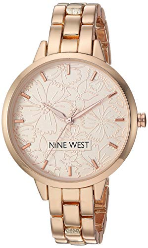 Nine West Women's NW/2226RGRG Rose Gold-Tone Bracelet Watch