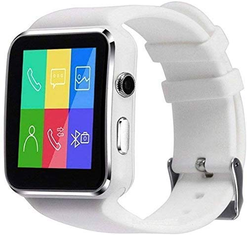 Reepud X6 Smart Watch with Two Colour Bluetooth Smartwatch for Man, Woman, Boys, Girls and Compatible with All Mobile Phones - White