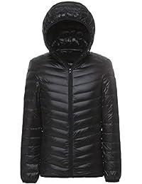 Men's Ultra Light Genuine Down Hoodie Parka Jacket