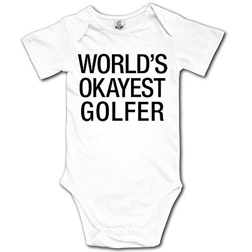 V5DGFJH.B Baby Toddler Climbing Bodysuit World's Okayest Golfer Infant Climbing Short-Sleeve Onesie Jumpsuit ()