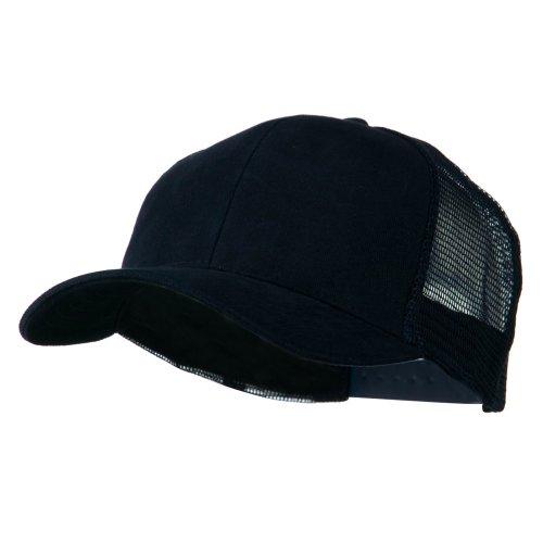 Navy Blue Brush Cotton Hat - 4