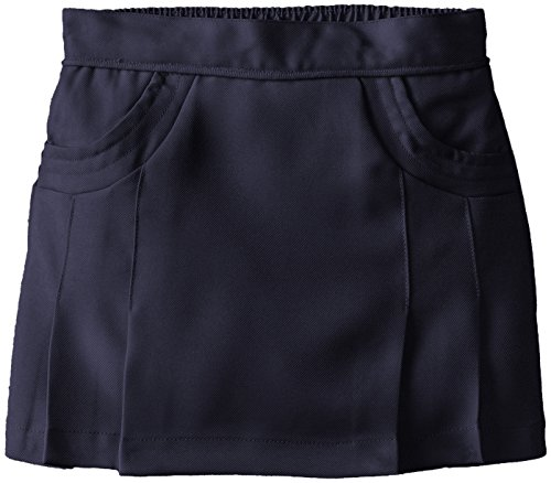 Nautica Little Girls' Uniform Poly Scooter with Scoop Pockets, Su Navy, 6