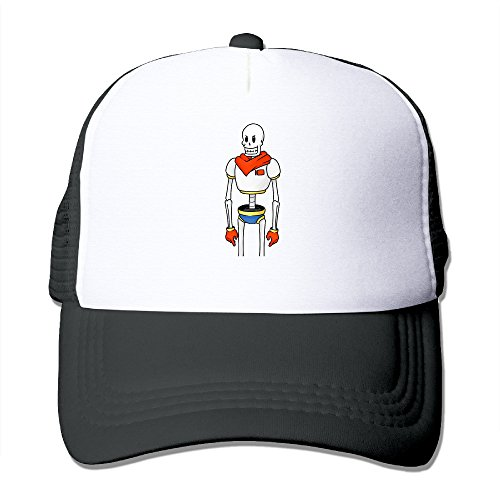 CCbros Undertale Papyrus Robot Hiking Mesh Back Hat Cap One Size Fit All Black (Tequila And Sprite)