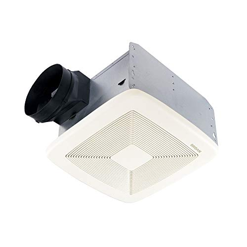 Broan ULTRA GREEN Series Single-Speed Fan, Ceiling Room-Side Installation Bathroom Exhaust Fan, ENERGY STAR Certified, 0.3 Sones, 110 CFM