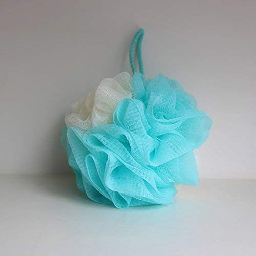 LissomPlume Bath Shower Sponge Loofah Mesh Pouf Brush Ball Exfoliating Accessory Blue Color by LissomPlume (Image #1)