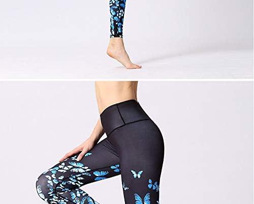 LQRR Mariposa Impreso Fitness Leggings de Yoga Cintura Alta Mujer ...
