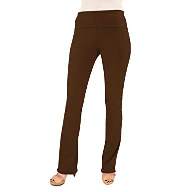 95f1ad62b3c Hold Your Haunches As Seen On Shark Tank Chocolate Brown Booty Patootie  Bootcut Legging