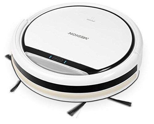 MEDION MD 16192 Saugroboter / 2200mAh / bis zu 80 Minuten, 0,3L Kapazität / Diverse Sensoren / weiß