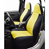 Coverking Custom Fit Seat Cover for Jeep Wrangler TJ 2-Door - (Neoprene, Black/Yellow)