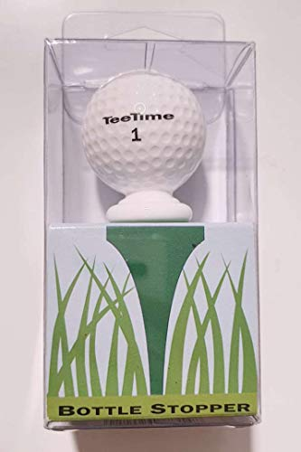 White Acrylic Golf Ball Stopper - Tee Time