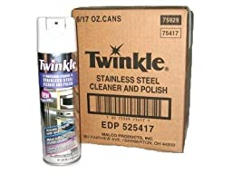 Twinkle Professional Strength Stainless Steel Cleaner & Polish (6 Pack)
